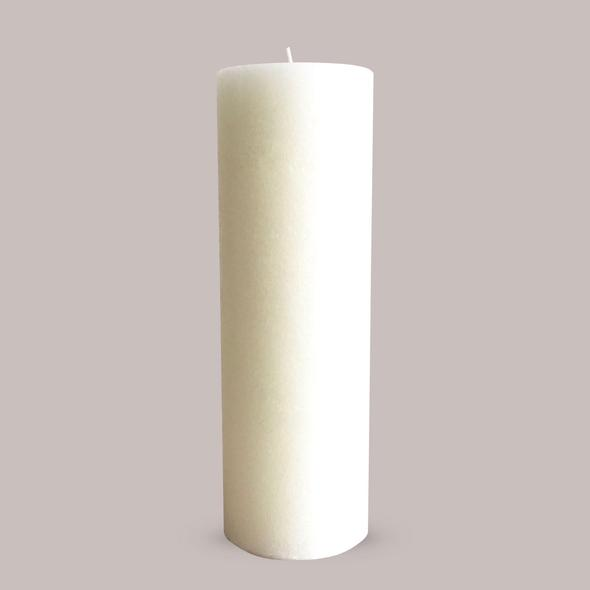 Warm White Textured Candle- L- Candle Kiosk