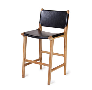 Bar Stool w/ Flat Full Back - Black (Pre-Order Only)