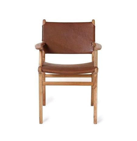 Dining Chair Flat with Arms- Chocolate