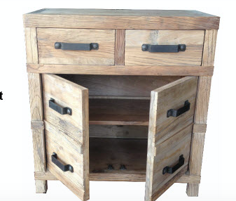 Recycled Elm 2 Door- 2 Drawer Buffet