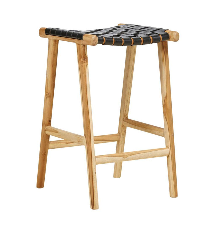 Bar Stool Woven - Black