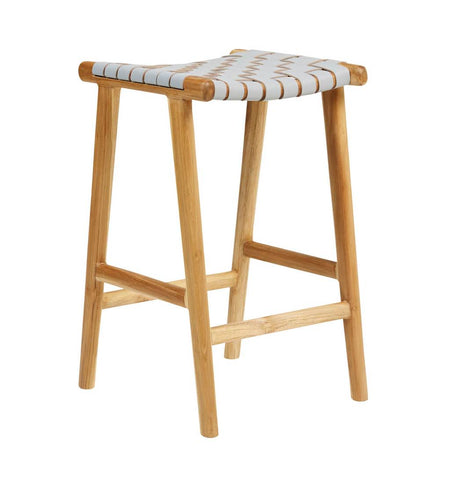Bar Stool Woven - Grey