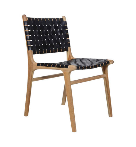 Dining Chair Woven- Black