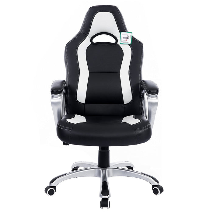 DaAls-Racing-Sport-Swivel-Office-Chair-in-Black-White 1