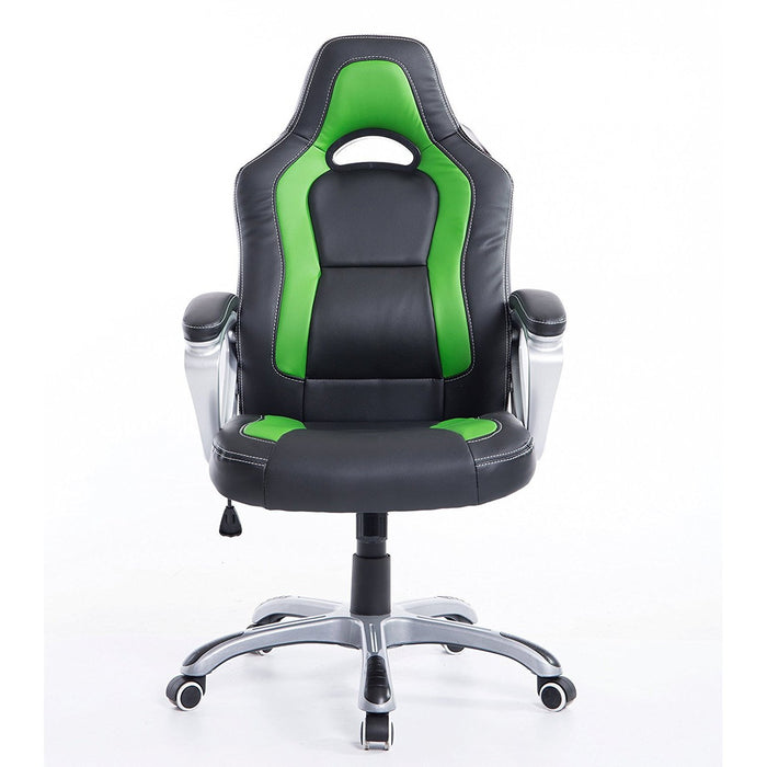 DaAls-Racing-Sport-Swivel-Office-Chair-in-Black-Green 1
