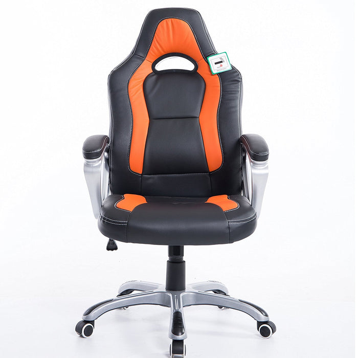 DaAls-Racing-Sport-Swivel-Office-Chair-in-Black-Orange 1
