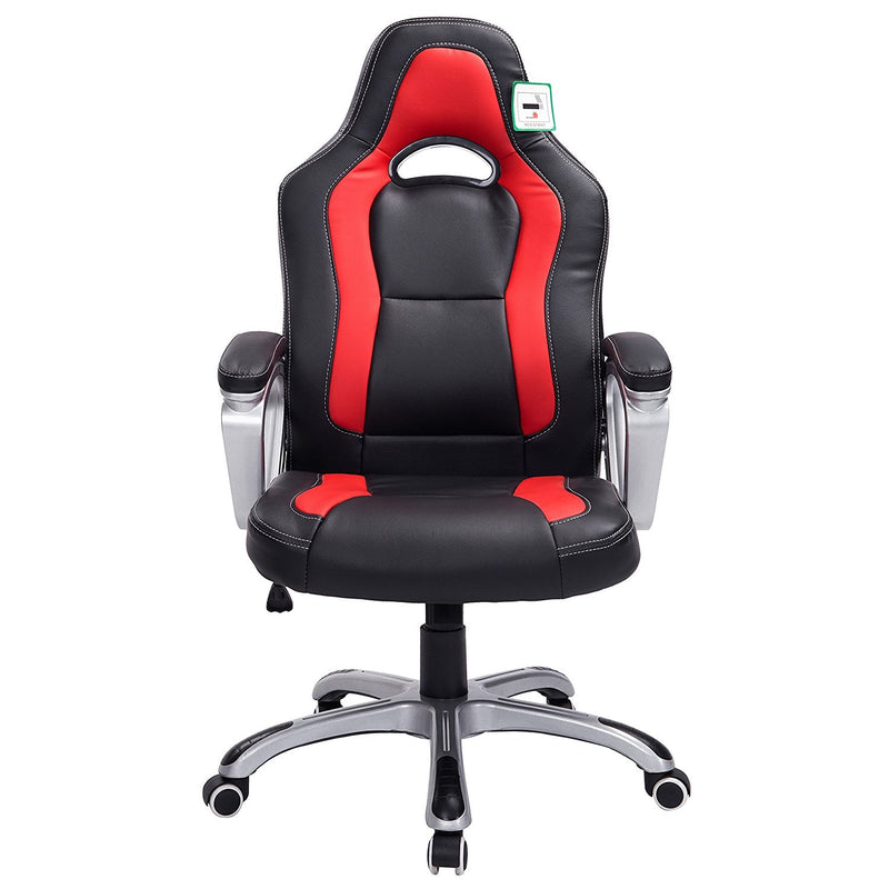DaAls-Gaming-Chair-Racing-Sport-Style-Swivel-Office-Chair-in-Black-Red 1