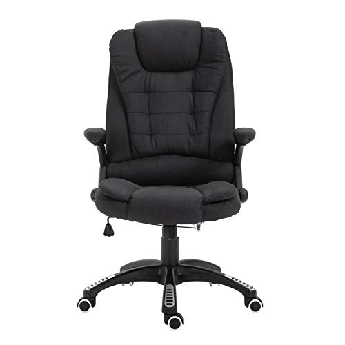 Cherry Tree Furniture Executive Recline Extra Padded Office Chair Standard, Black Fabric