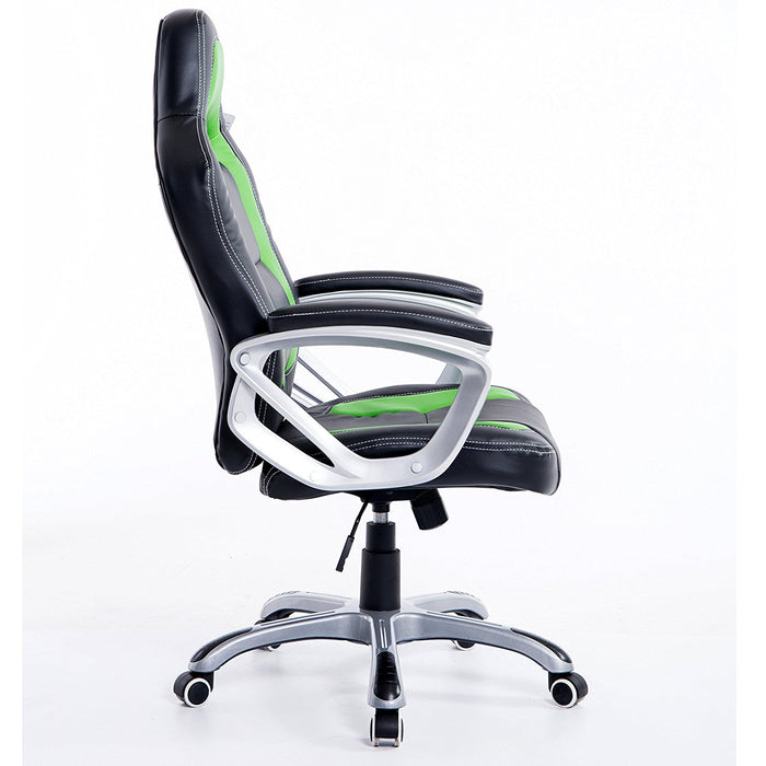 DaAls-Racing-Sport-Swivel-Office-Chair-in-Black-Green 2