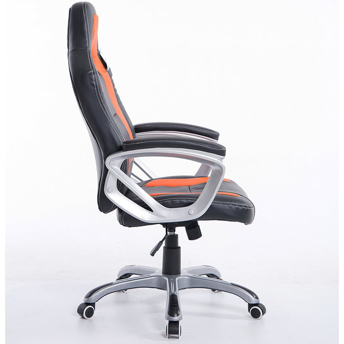 DaAls-Racing-Sport-Swivel-Office-Chair-in-Black-Orange 2