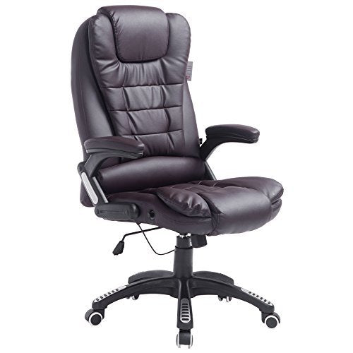 executive recline high back extra padded office chair brown