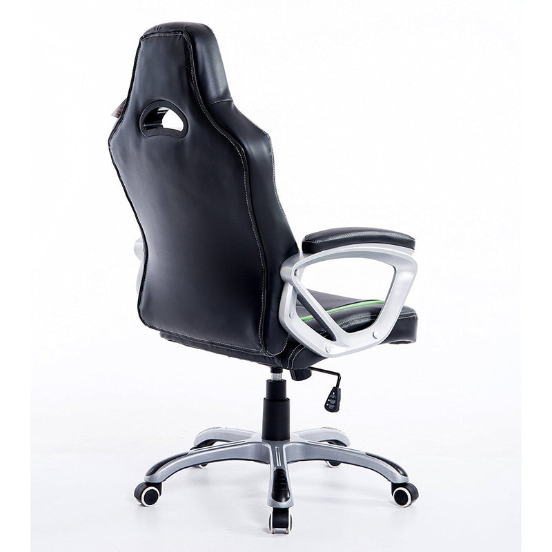 DaAls-Racing-Sport-Swivel-Office-Chair-in-Black-Green 3