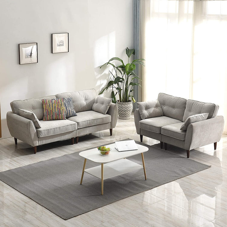 Brooks Fabric Sofa range in Stone Beige