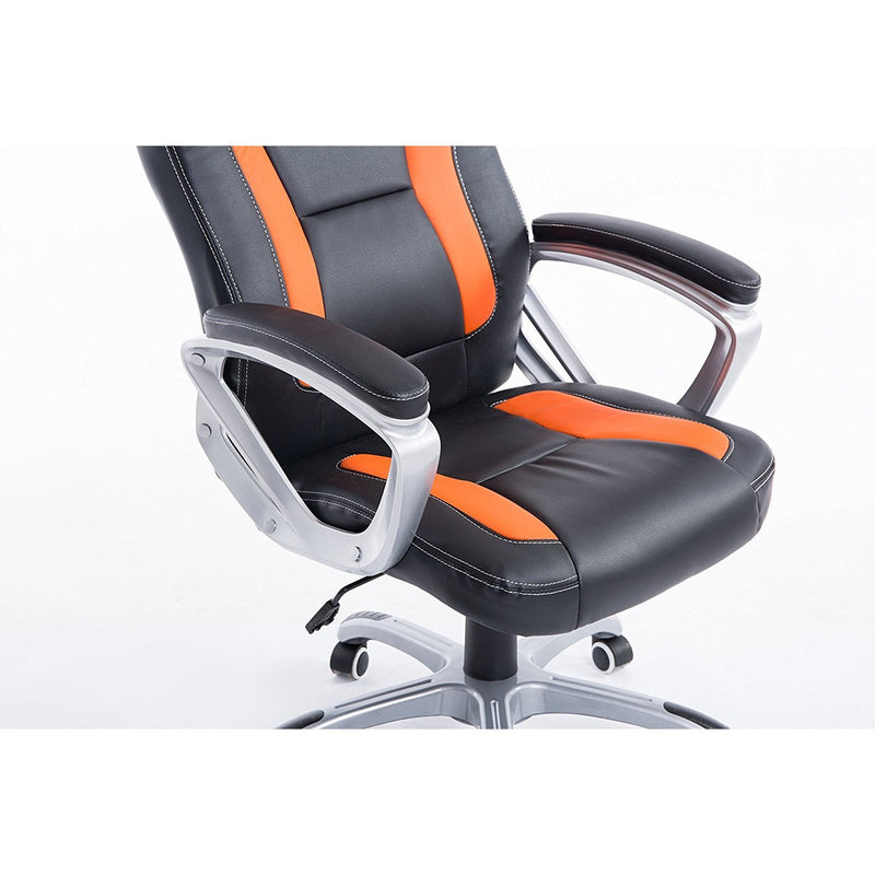 DaAls-Racing-Sport-Swivel-Office-Chair-in-Black-Orange 4