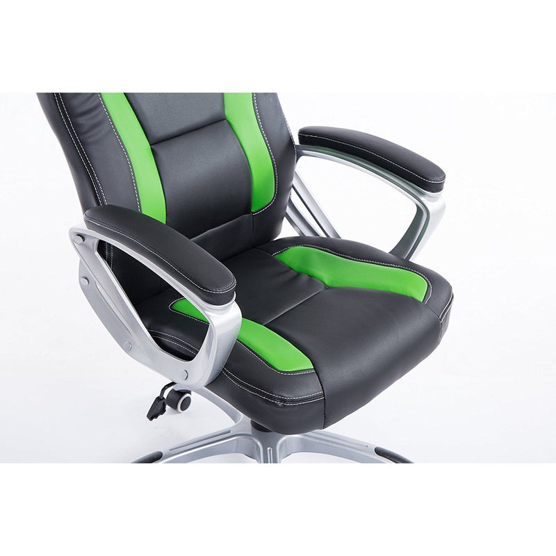 DaAls-Racing-Sport-Swivel-Office-Chair-in-Black-Green 4