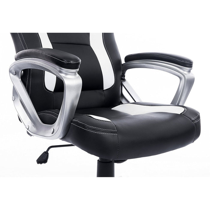 DaAls-Racing-Sport-Swivel-Office-Chair-in-Black-White 4