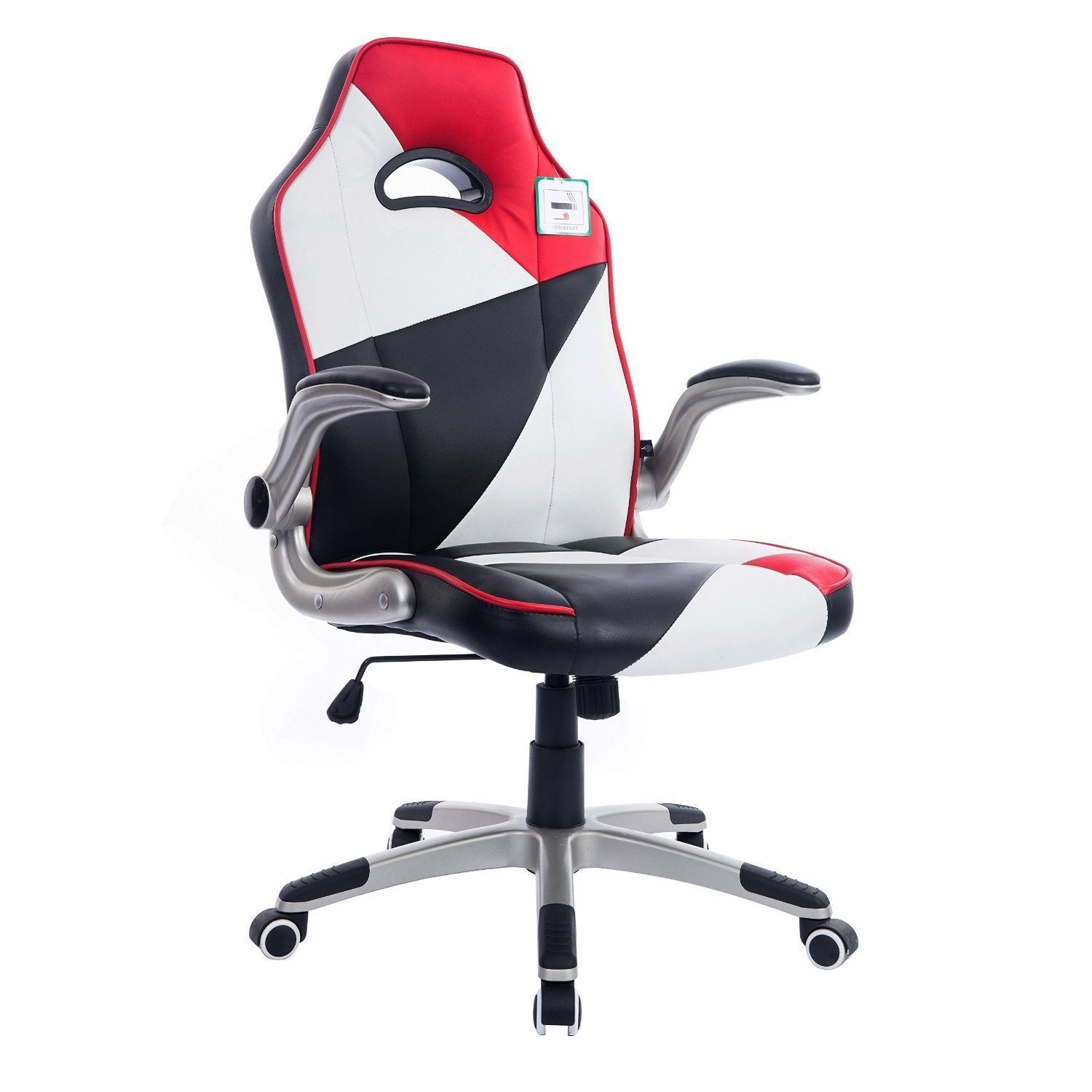 High Back Racing Gaming Sport Pu Leather Swivel Office Chair With Folding Arms Shop Designer Home Furnishings