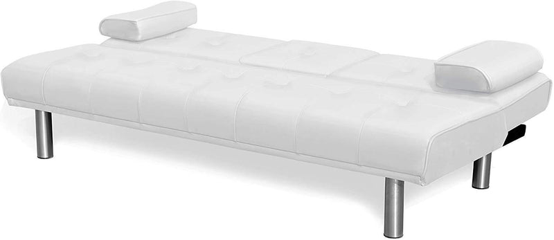 ACRUX 3 Seater Sofa Bed Sleeper Sofa White PU 3