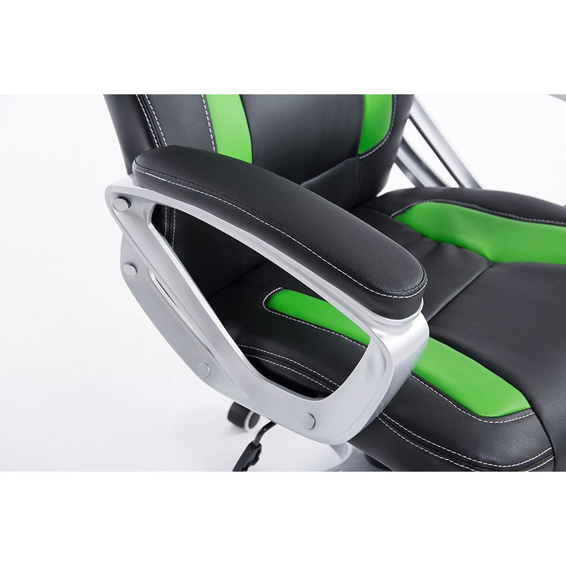 DaAls-Racing-Sport-Swivel-Office-Chair-in-Black-Green 5
