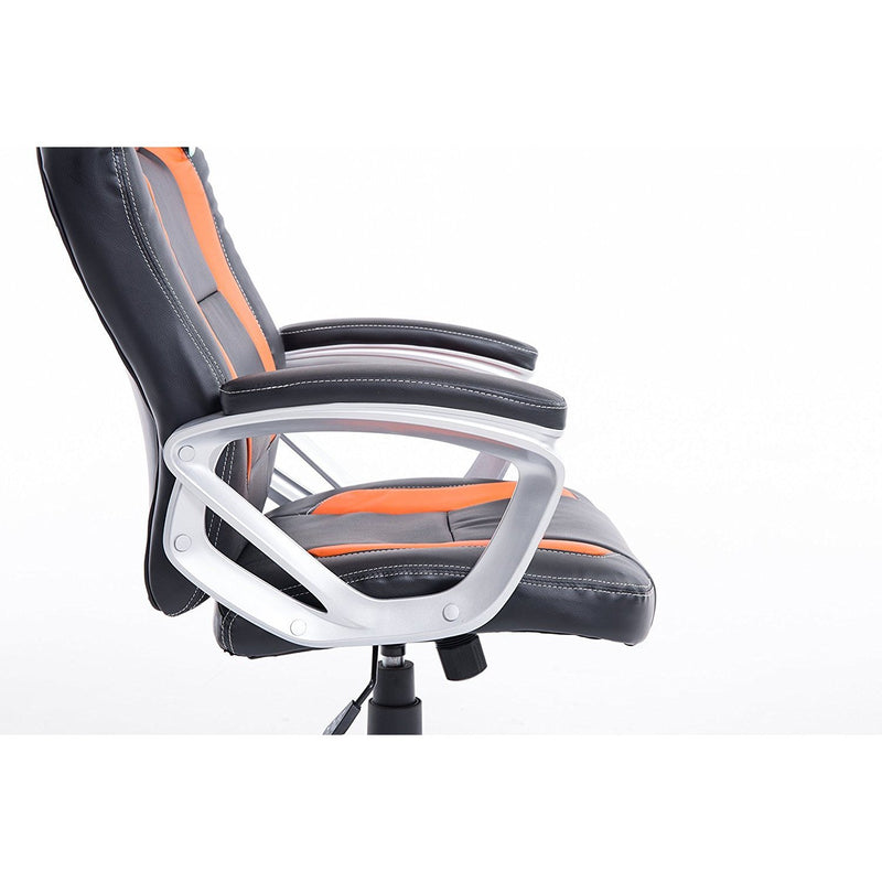 DaAls-Racing-Sport-Swivel-Office-Chair-in-Black-Orange 5