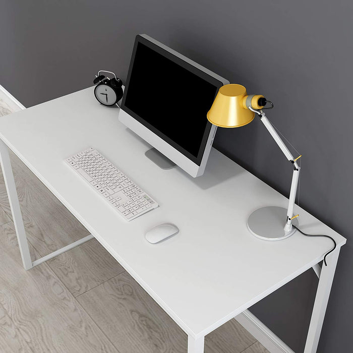 modern design 135 x 60 cm White computer desk workstation desk
