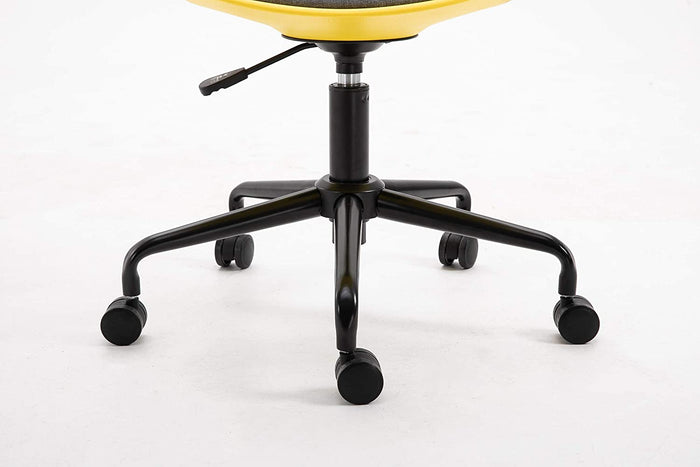 Gerri Swivel Office Chair with Upholstered Seat Yellow 8