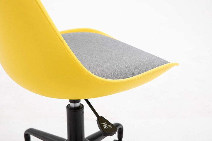 Gerri Swivel Office Chair with Upholstered Seat Yellow 7