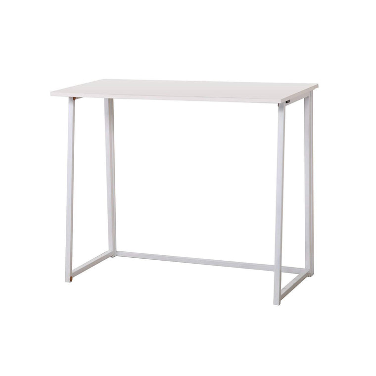 Compact Folding Desk in White (No Assembly)
