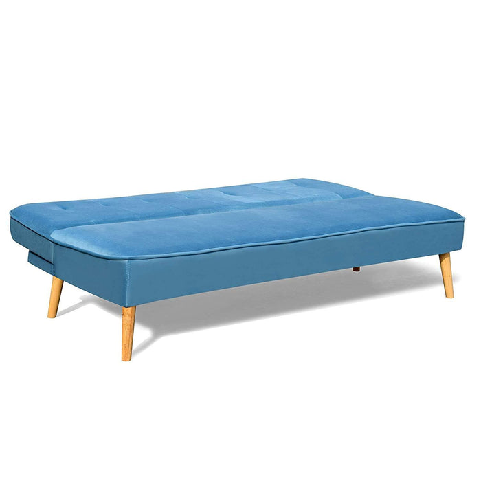 BETTI 3-Seater Click Clack Sofa Bed, Blue Velvet