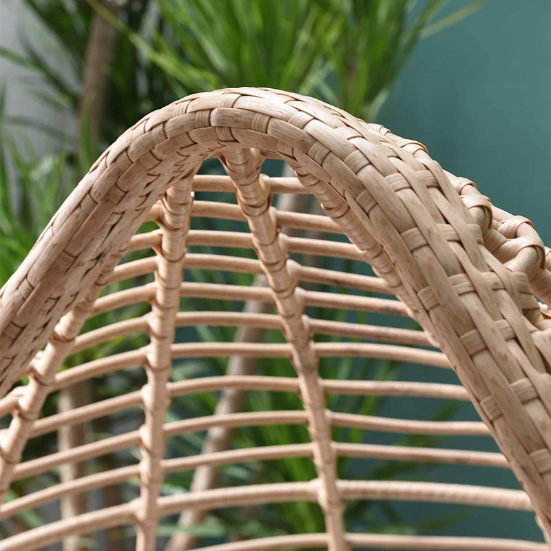 Caspian Natural Rattan Effect Cocoon Patio Egg Chair 7