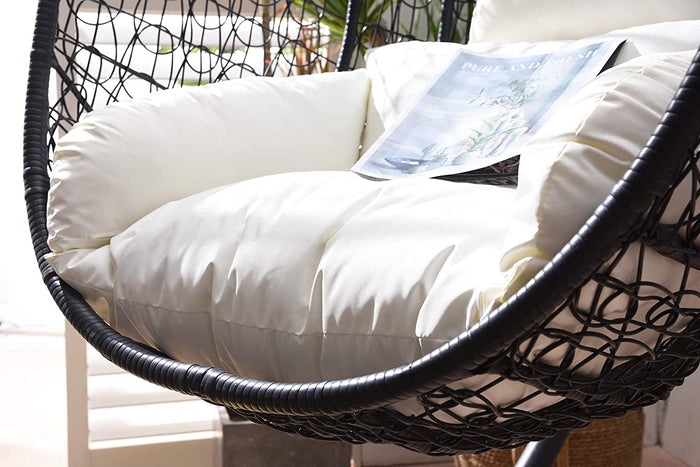 Azura Black Patio Hanging Egg Chair 6