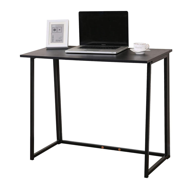 Compact Folding Desk in Black (No Assembly)