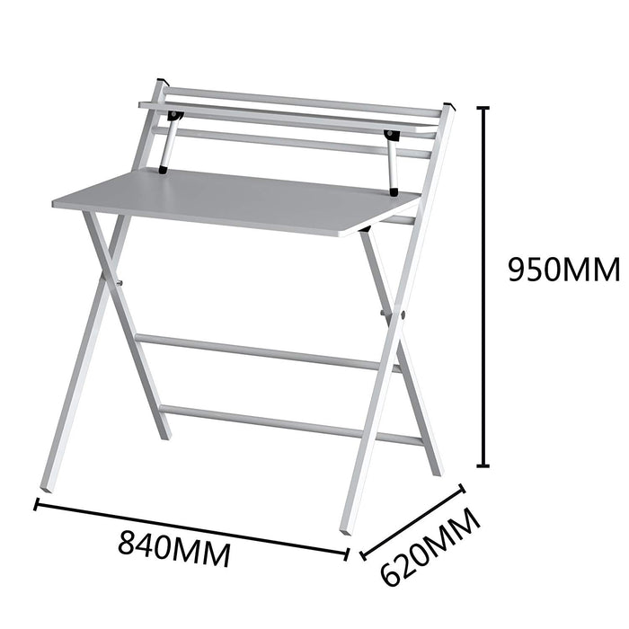 new design folding desk with steel frame white