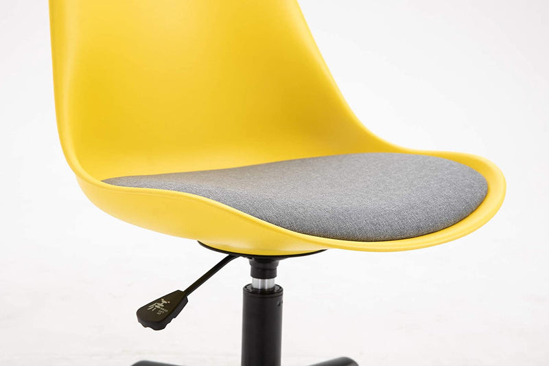 Gerri Swivel Office Chair with Upholstered Seat Yellow 6