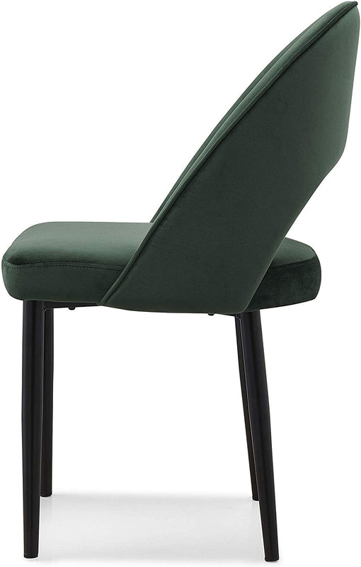 Calgary Set of 2 Velvet Dining Chairs in Green 5