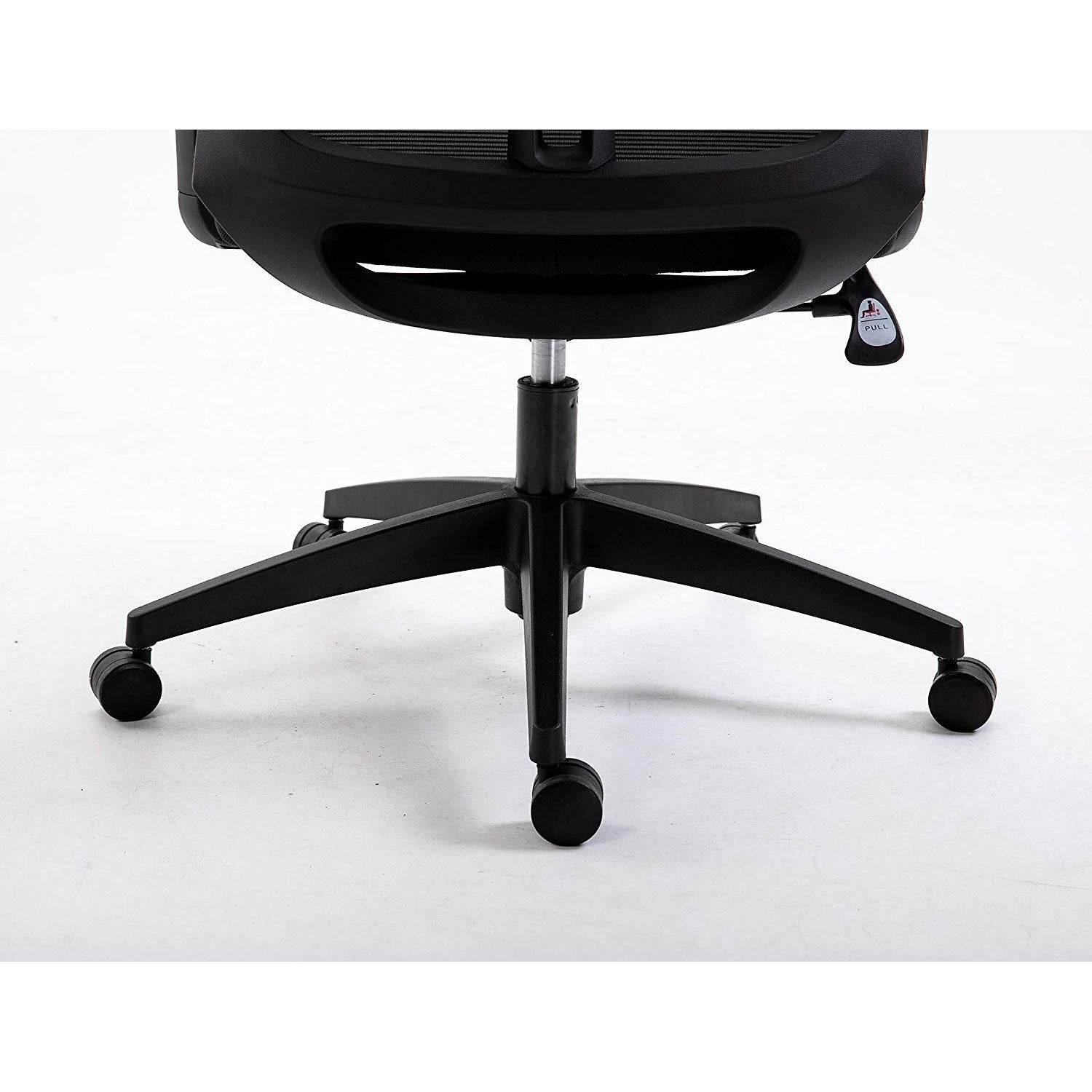 Picture of: Cherry Tree Furniture Mesh Fabric Desk Chair Office Chair With Adjustable Armrests Lumbar Support Black With Headrest Shop Designer Home Furnishings