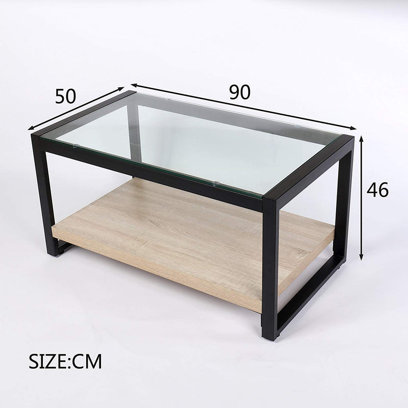 olympia coffee table glass top with steel frame wooden shelf