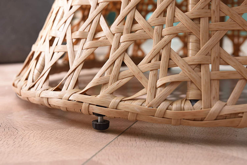 Nerida Natural Rattan Effect Cocoon Swivel Garden Egg Chair 8