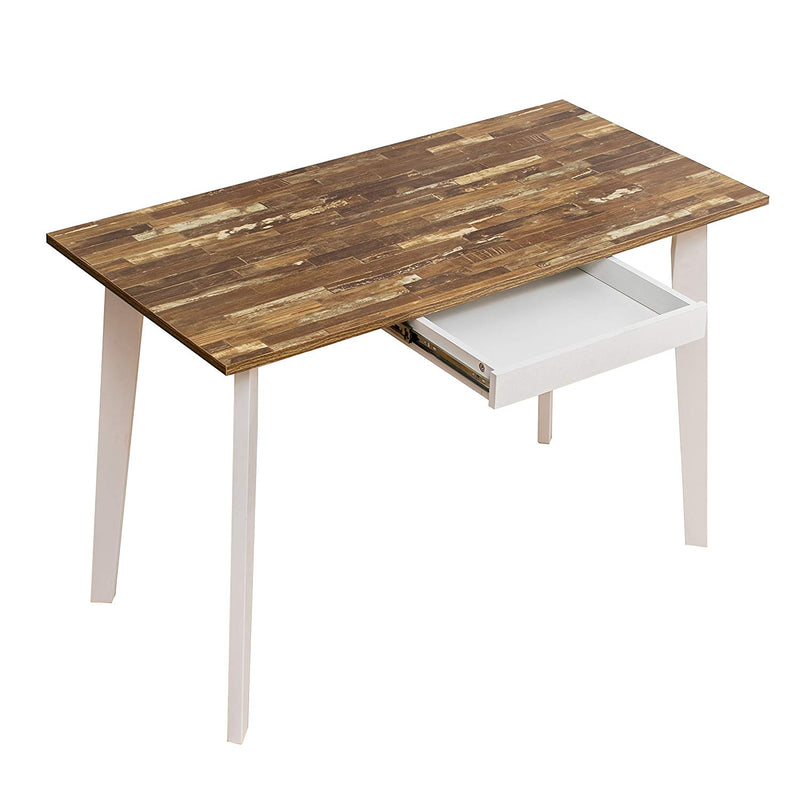 retro wood desk with drawer and solid wood legs