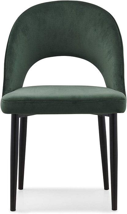 Calgary Set of 2 Velvet Dining Chairs in Green 2