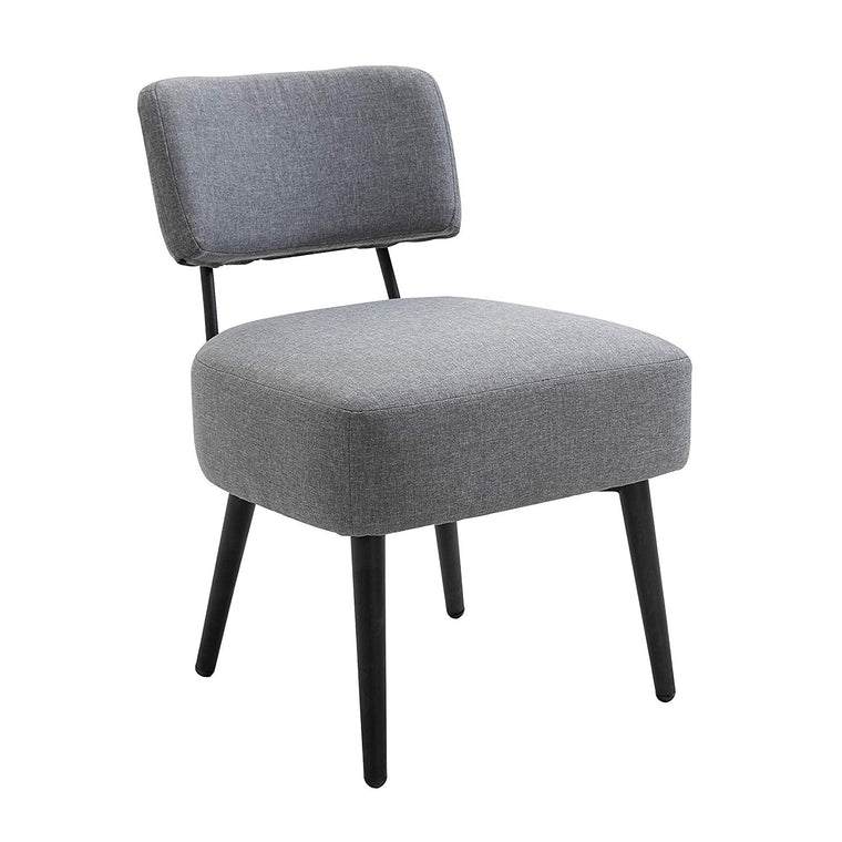 LANCY Accent Armchair Lounge Chair in Grey Fabric
