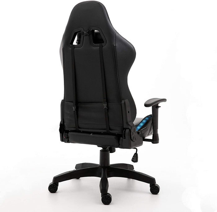 VIRIBUS X1 Office Gaming Chair with 12-Colour LED Light Black and Grey 7