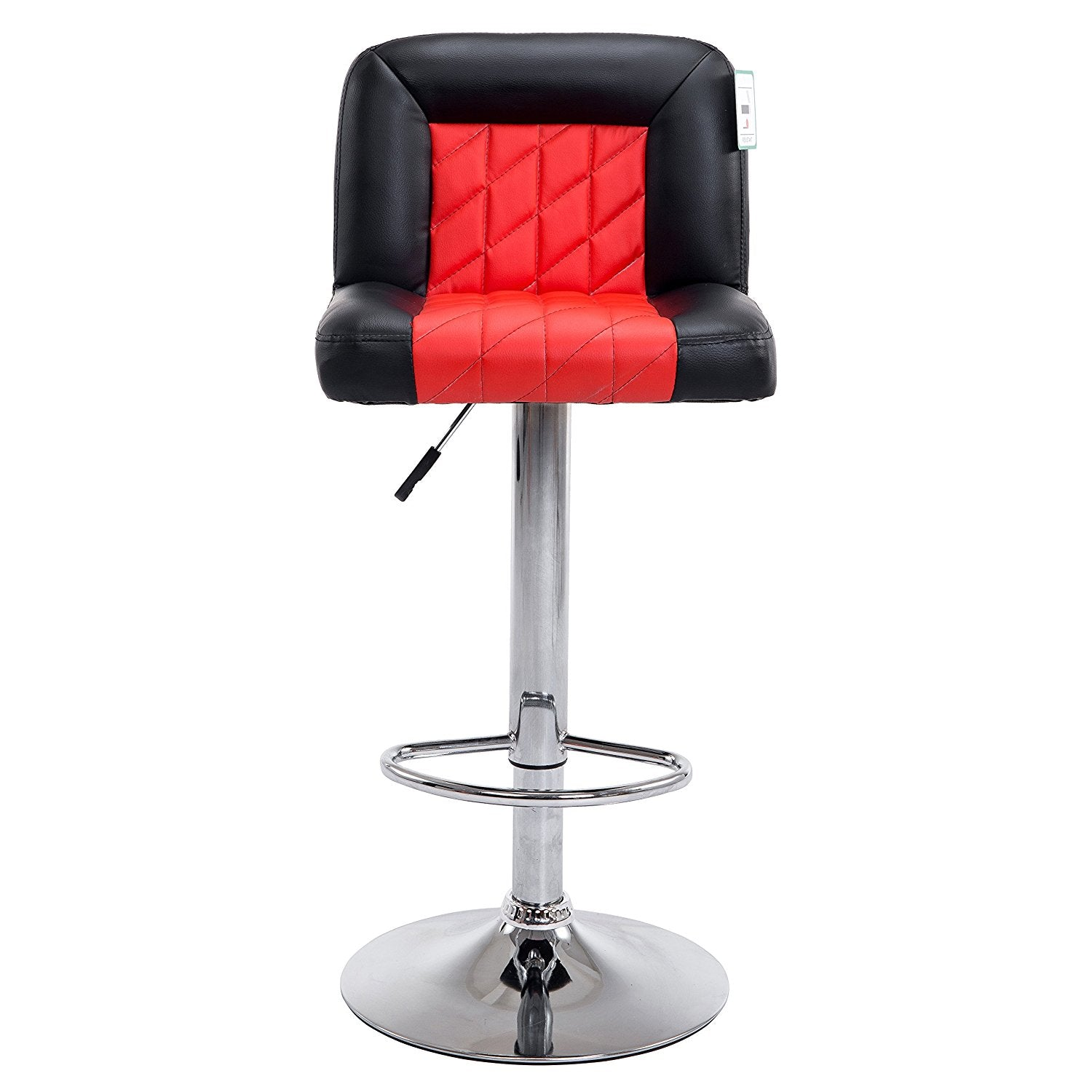 Surprising Faux Leather Chrome Base Diamond Stitch Bar Stool Mb 208 In Pair Black Red Pdpeps Interior Chair Design Pdpepsorg