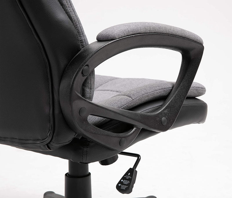 Jona Double Layer Padded Office Chair Grey 8