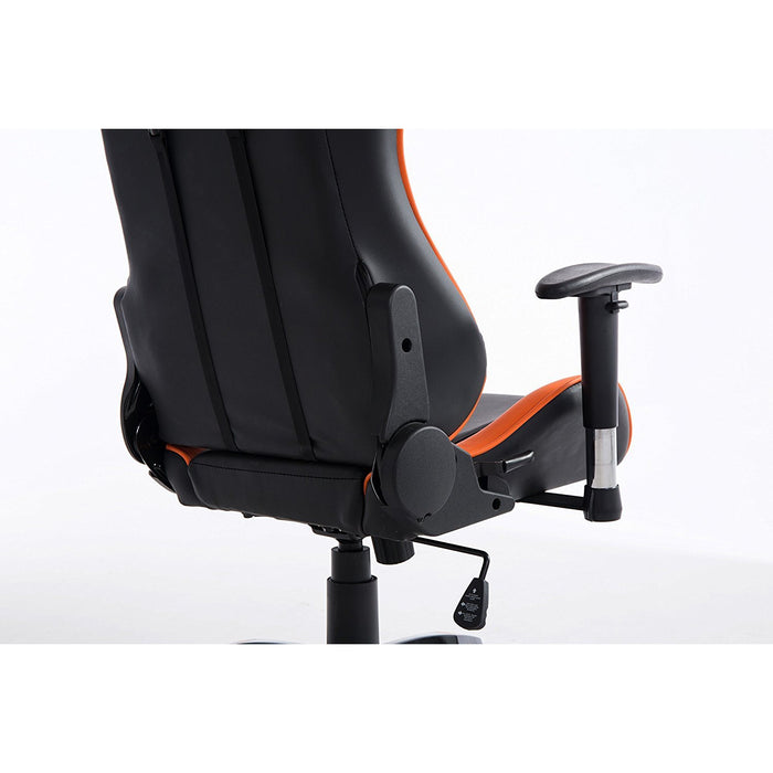 CTF PRO High Back Metal Frame Swivel Gaming Chair with 3-D Adjustable Armrests, Orange