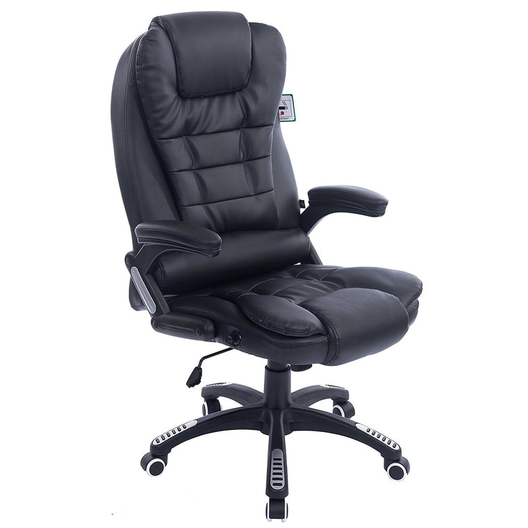 Executive Recline High Back Extra Padded Office Chair, Black