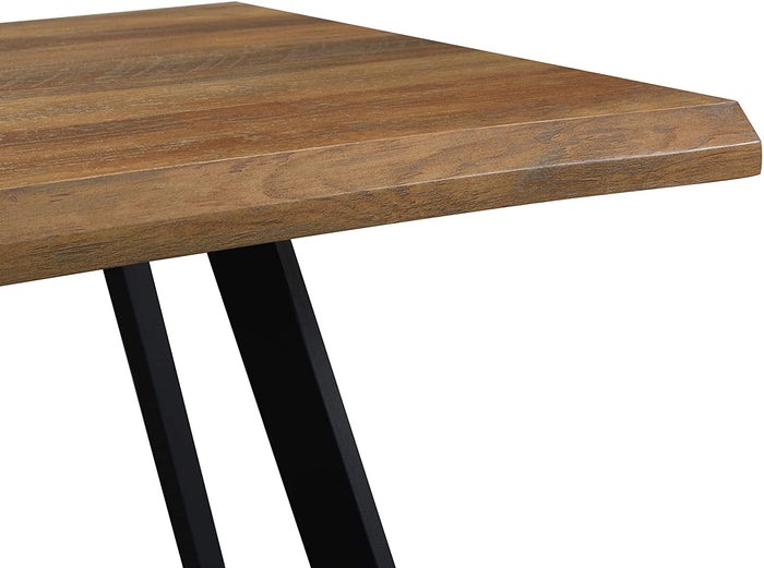 Kenora Wood Effect 150 cm Dining Table with Curved Edges 4 Seater 6