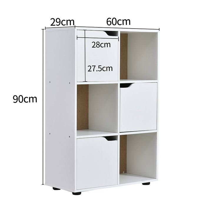 NORDI 2 X 3 Compartment Storage Unit Organiser Sideboard Cabinet Cube Unit