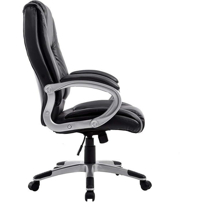 Cherry Tree Furniture High Back PU Leather Executive Swivel Office Chair MO59 Black