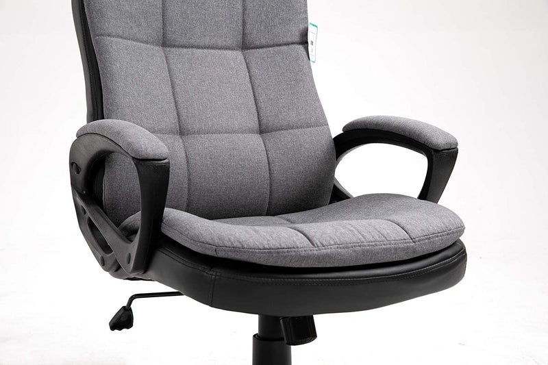 Jona Double Layer Padded Office Chair Grey 6